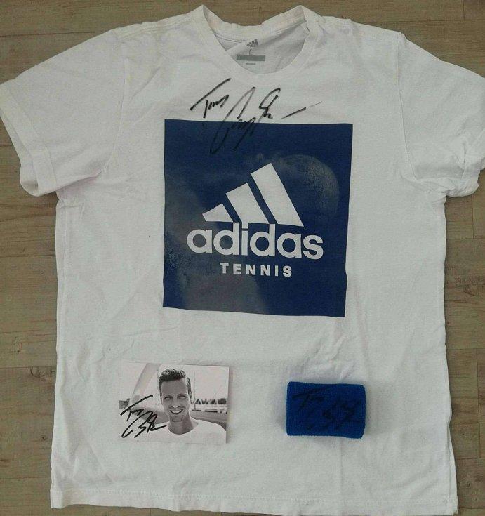 Tomáš Berdych - podepsané tričko.