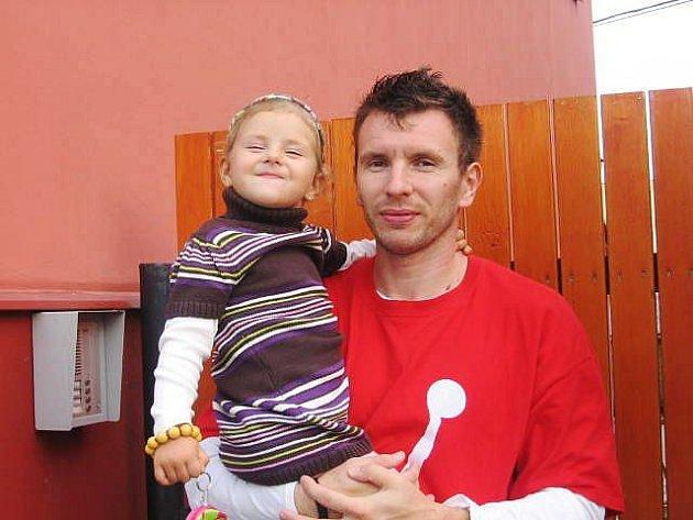 Marek Štec s dcerou Sofií.