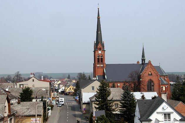 Kostel vKobeřicích.
