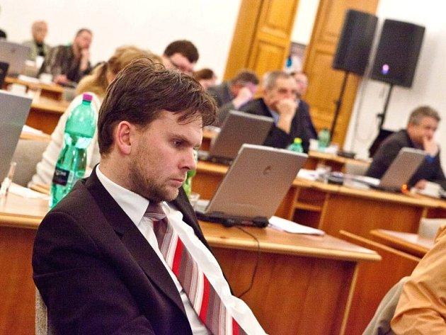 Radim Křupala během jednání opavského zastupitelstva.