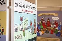 Snímky z výstavy Oprási sčeskí historje. Ilustrační foto.