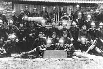 Němečtí hasiči z Loděnice 1945.