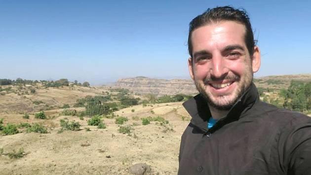 """První """"selfíčko"""" hlučínského cestovatele a dobrodruha Pavla Klegy na etiopské půdě."""