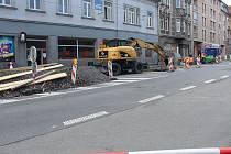 Na Krnovské už panuje pracovní ruch.