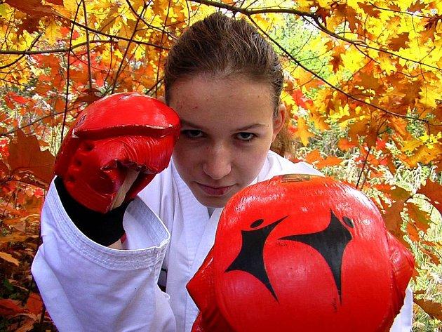 Adéla Grodová získala letos na mistrovství Evropy v taekwon–du stříbrnou medaili.