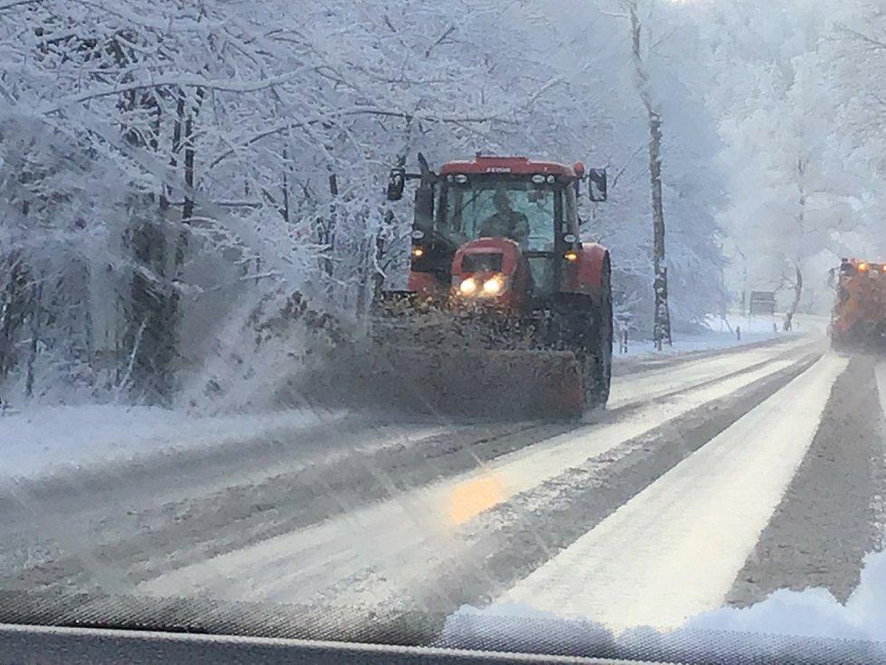 Sníh pokryl Opavsko. Neděle 24. ledna 2021.