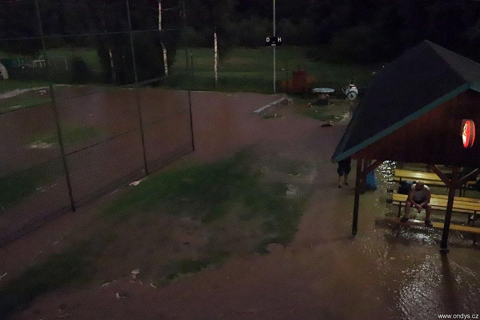 Bleskové povodně ve Vřesině u Hlučína, 28. července 2021, Vřesina.