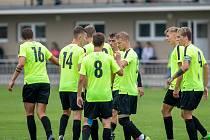 Fotbalisté SFC Opava (na archivním snímku) prohráli v utkání 2. kola divize F s Vítkovicemi 0:2. (8. 8. 2021).