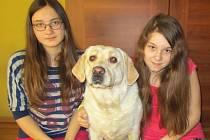 Zachráněné dívky z Oldřišova společně s labradorkou Bety.