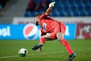 Plzeň - Zápas třetího kola MOL Cupu mezi Viktoria Plzeň a SFC Opava 5. října 2017. Vojtěch Šrom - o