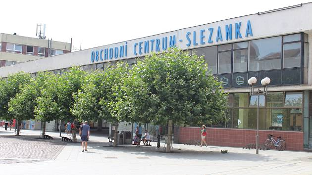 Slezanka v centru Opavy.