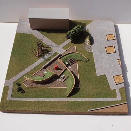 Návrh podoby nové zahrady vMateřské škole Edvarda Beneše.