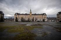 Areál bývalých Dukelských kasáren, 4. února 2021 v Opavě.
