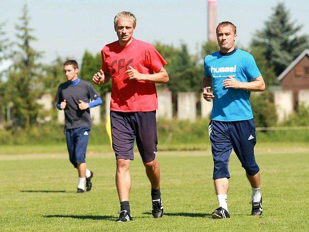 Páteční trénink opavských fotbalistů.