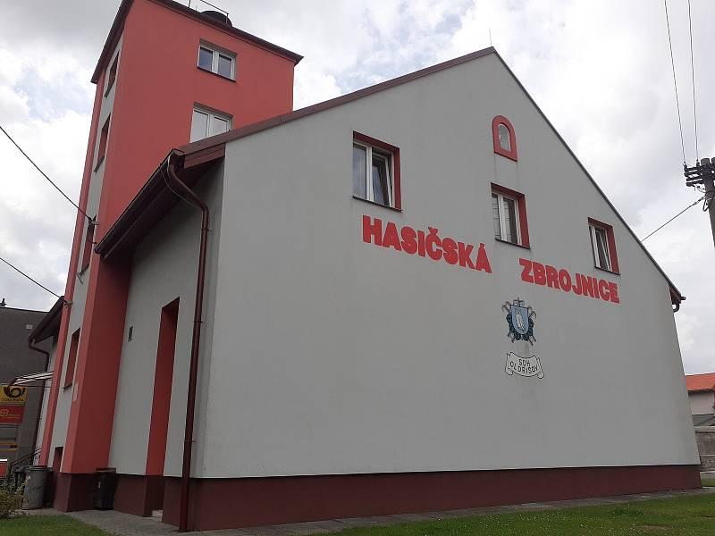 Hasičská zbrojnice v Oldřišově.