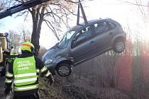 Zásah hasičů u nehody v Hlučíně.