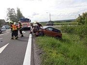 Dopravní nehoda u Mokrých Lazců.