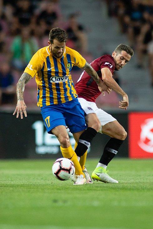 Zápas 1. kola FORTUNA:LIGY mezi AC Sparta Praha a SFC Opava 21. července 2018 v Generali areně v Praze. Petr Zapalač - o.