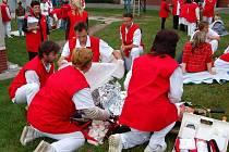 Desítky evakuovaných zaměstnanců, firemní zdravotníci, Český červený kříž, hasiči, strážní služba Bois. Ti všichni se ve čtvrtek sešli v areálu komárovského Ivaxu, kde se uskutečnilo speciální cvičení.