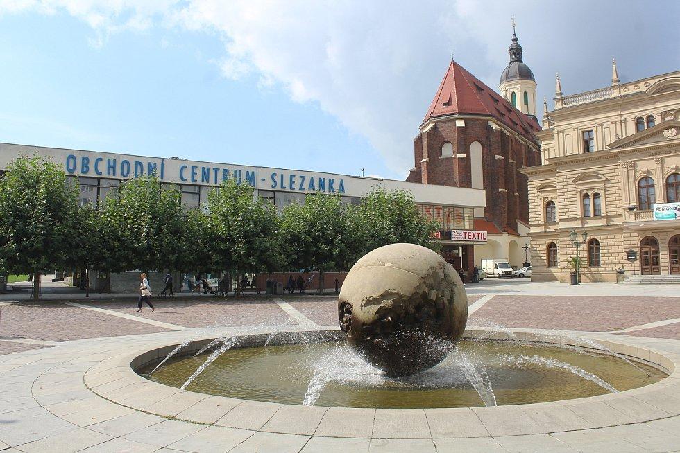 Panorama Horního náměstí v Opavě. Opava, 13. září, 2021.