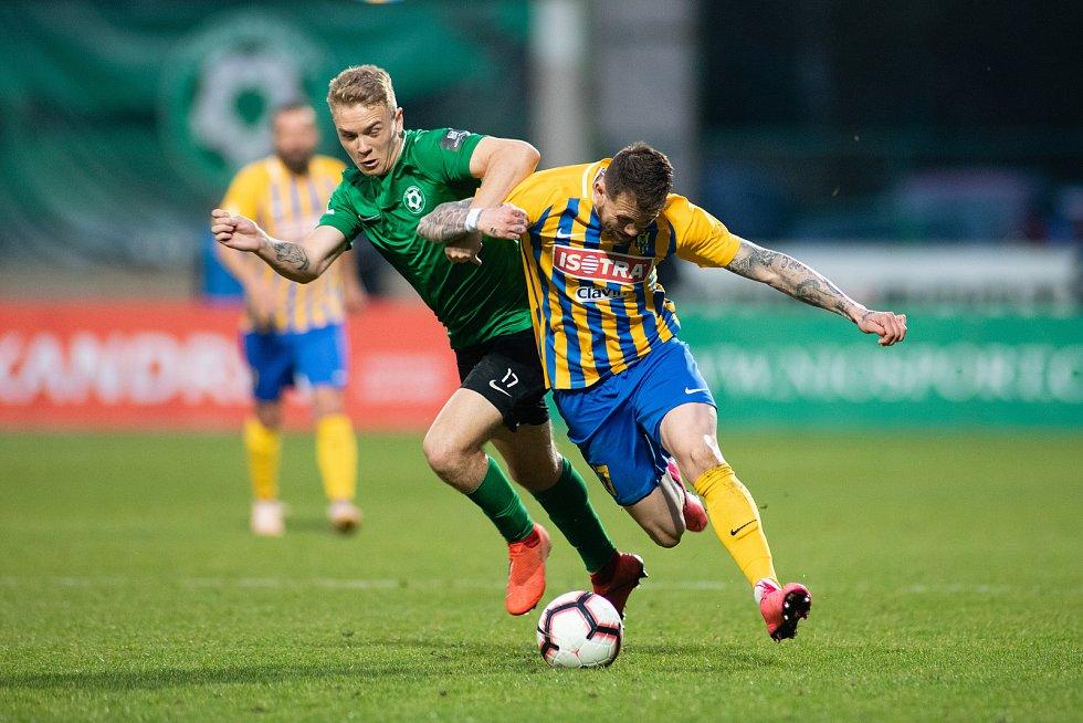 Zápas FORTUNA:LIGY mezi 1. FK Příbram a SFC Opava 5. dubna 2019. Petr Zapalač (SFC Opava).