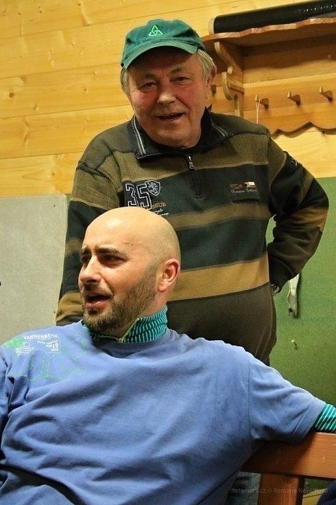 Radek Holčák s otcem Františkem.