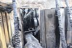 Stav objektu na pile v Hlučíně po požáru.