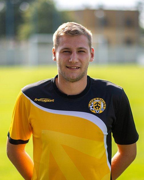 Fotbalový klub MFK Kravaře. 25července 2020vKravařích. Michal Pavelek, záložník.