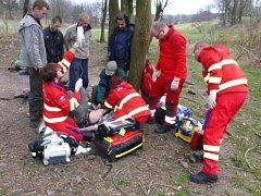 Pětatřicetiletý muž v Budišově nad Budišovkou utrpěl vážná zranění při pádu ze stromu.
