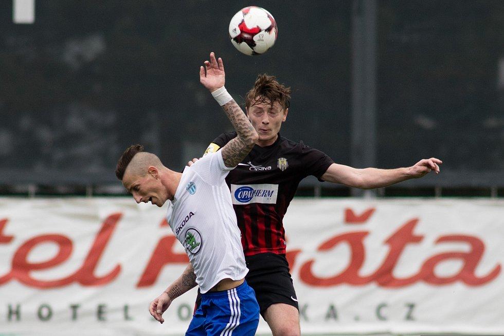Semifinále fotbalového poháru MOL Cup mezi FK Mladá Boleslav a SFC Opava v Mladé Boleslavi 26. dubna. Dominik Simerský - o.