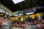Zápas 1. kola FORTUNA:LIGY mezi AC Sparta Praha a SFC Opava 21. července 2018 v Generali areně v Praze. Fanoušci SFC Opava.