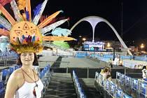 Andrea Liščáková na sambodromu v brazilském Riu de Janeiro.