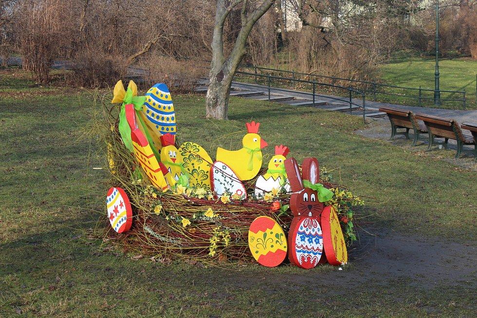 Velikonoční výzdoba Opavy.