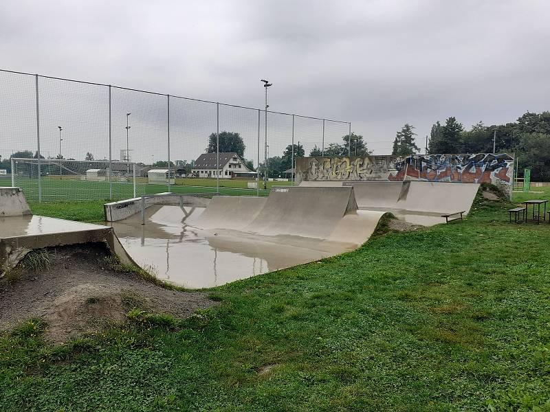 Sportovní areál v Háji ve Slezsku.
