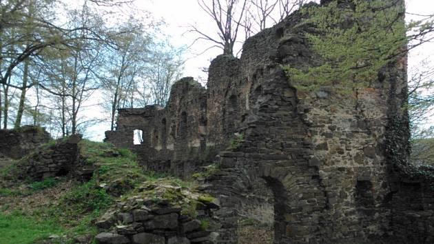 Hrad Vikštejn byl vybudován v polovině 13. století, dnes je z něj zřícenina.