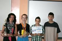 Karin Solná (zleva), Klárka Odehnalová, Petr Hendrych a třetí člen týmu Patrik Leifert.