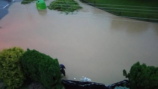Situace na Opavsku, 5. srpna 2021 večer. Snímek od Zuzany Tomáškové.