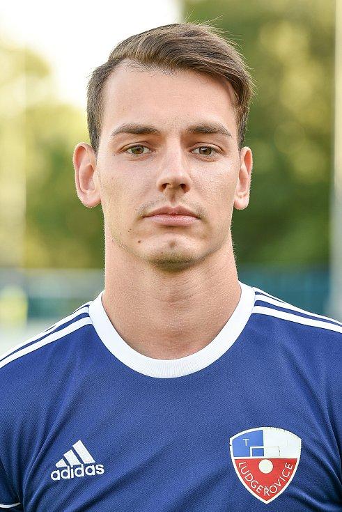Fotbalový klub TJ Ludgeřovice, 10. září 2020 v Ostravě. David Rozhon, záložník