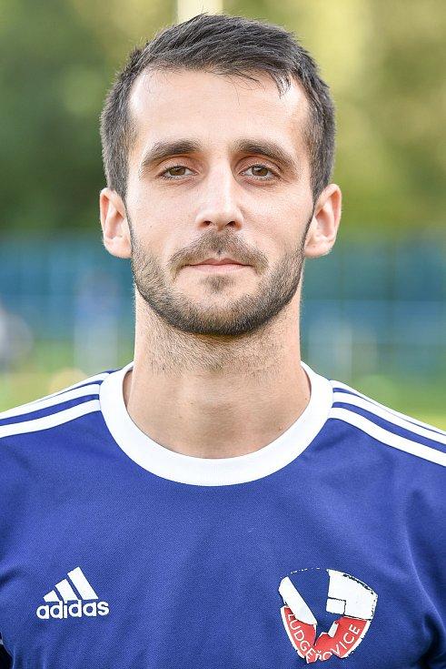 Fotbalový klub TJ Ludgeřovice, 10. září 2020 v Ostravě. Lukáš Fojtík, záložník
