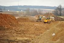 Stavba Prodloužené Rudné. Ilustrační foto z února 2014.