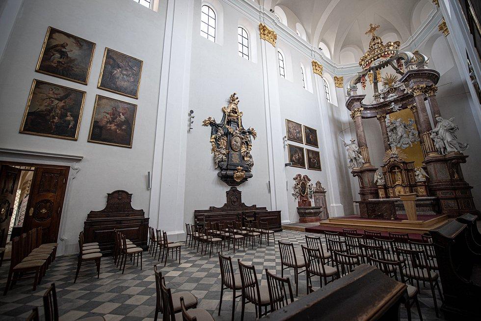 Konkatedrála Nanebevzetí Panny Marie v Opavě po opravách, které si vyžádaly téměř 77 milionů korun, 20. dubna 2021.