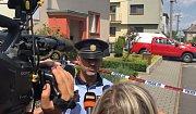 Vyjádření policejního mluvčího Petra Smětáka k výbuchu v domě ve Strahovicích.