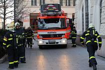 Úterní požární cvičení v budově Hlásky.
