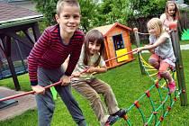 Novou zahradu u mateřské školy Heydukova už děti využívají.