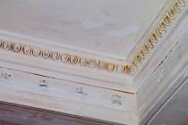 Zajímavým nálezem při rekonstrukci výstavní budovy Slezského zemského muzea bylo objevení pozlacených štuků ve vstupní hale. Ty zde udělali při rekonstrukci budovy po druhé světové válce, kdy muzeum zasáhla střelba. Později je ale skryla nová omítka.