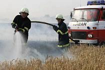 Kobeřičtí hasiči při jednom ze zásahů.