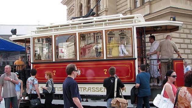 Opavská tramvaj číslo 7. Ilustrační foto.