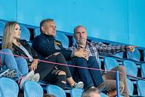 Petr Lamich (uprostřed) na jednom z přípravných zápasů minulé sezony