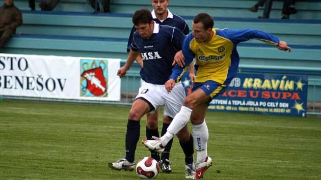 Dolnobenešovstí fotbalisté nezvládli středeční dohrávku s Břeclaví, které podlehli 0:2. Svůj výpadek mohou napravit již v sobotu, kdy hostí Mutěnice.