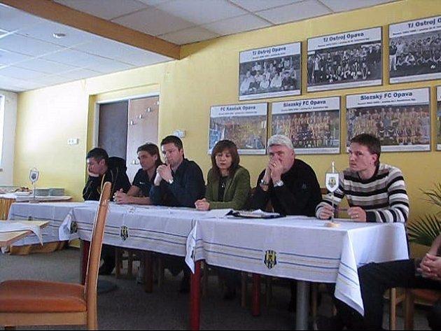 Tisková konference SFC Opava.